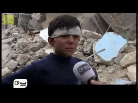 A young child in Syria describes the death of his family