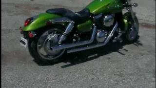 8. Kawasaki Mean Streak 1600 with Vance and Hines Straight Shots