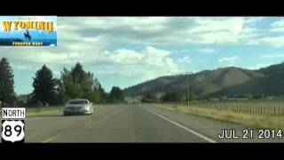 Evanston (WY) United States  city photos gallery : Evanston WY to Jackson WY Time Lapse Drive 2014