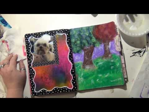 0 Art Journal, Smash Page, & Planner Flip