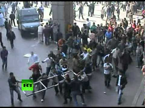 Egypt riots - The Egyptian capital Cairo was the scene of violent chaos on Friday, when tens of thousands of anti-government protesters stoned and confronted police, who f...