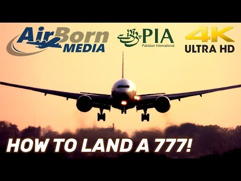 How To Land A 777.  PIA Pilot Totally Butters It With An Awesome Landing.