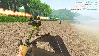 Welcome to Rising Storm Vietnam, today I'll show you a new map called Operation Valkyrie. On this map US has to capture all sectors starting a beach landing on beaches so to say, which often feels like D-Day in terms of the intensity of battle and also the look of it. And it is hard to get a foothold into the jungle, but once you get a foothold there you can continue either attacking trenches through the jungle, or taking one of the flanks along the beaches. This map has many features including a cave, and towards the last objective farmhouses surrounded by rice fields. All in all Operation Valkyrie is a great map which brings new experience to the table.Tags: kenzugaming, games, game, video games, pc games