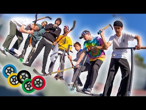 Scooter Olympics - Hockey!! │ The Vault Pro Scooters (видео)