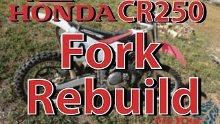 6. How To Rebuild The Forks On Your 1997-2001 Honda CR250 | Fix Your Dirt Bike.com