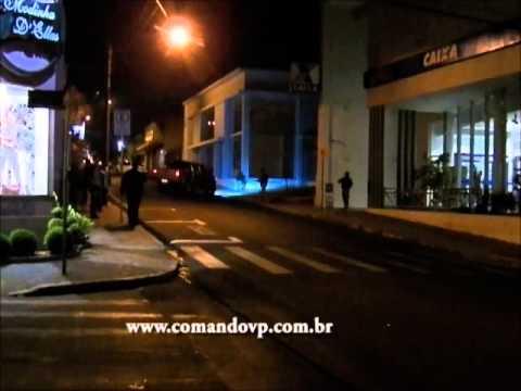 Polícia simula roubo a banco no Centro de São Carlos