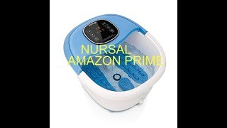 (Episode 2046) Amazon Prime Unboxing: NURSAL All-in-one Foot Spa Bath Massager @amazon