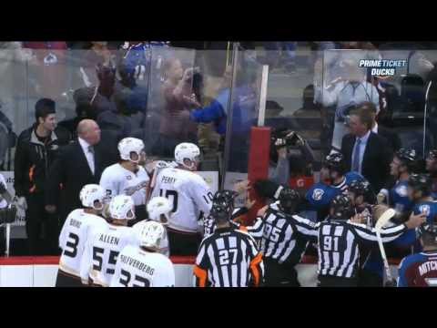 Anaheim Ducks - Patrick Roy vs Bruce Boudreau end of game Anaheim Ducks vs Colorado Avalanche 10/2/13 NHL Hockey. 20:00 COL P. Bordeleau Game Misconduct - Head coach - 0 min...