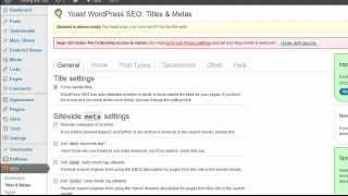 Yoast WordPress SEO Plugin - Titles And Meta Section