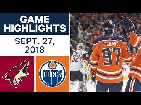 Video: NHL Pre-season Highlights | Coyotes vs. Oilers - Sept. 27, 2018
