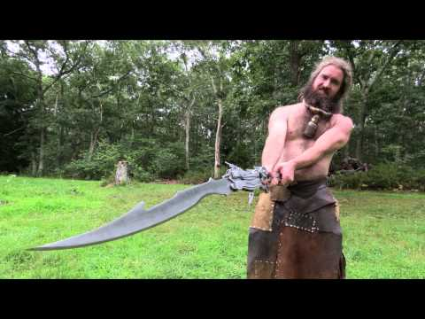 The man who makes giant swords