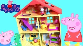 Video Huge Peppa Pig Lights N' Sounds Family House with 7 Rooms for Pig George Daddy and Mommy by Funtoys MP3, 3GP, MP4, WEBM, AVI, FLV Agustus 2017