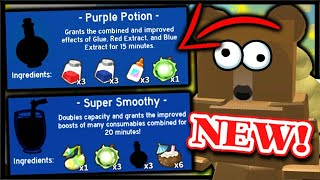 *New* SUPER SMOOTHY & PURPLE POTION + NEW CODE | Roblox Bee Swarm Simulator