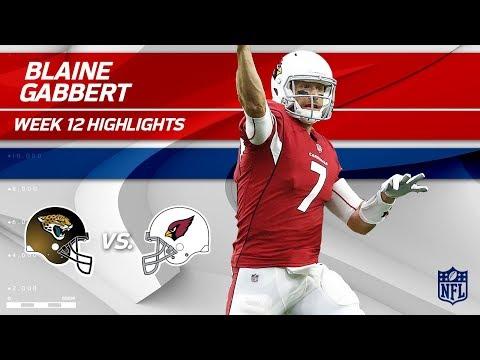 Video: Blaine Gabbert's Great Game w/ 2 TDs & 241 Yds vs. Jags! | Jaguars vs. Cardinals | Wk 12 Player HLs