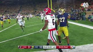 Notre Dame Football vs. UGA Highlights