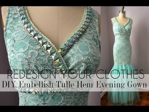 RYC) 22:DIY Embellish Tulle Hem Evening Gown + Announcement