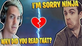 NINJA GETS MAD AT DRLUPO FOR READING A DONATION LIVE ON STREAM | TFUE REACTS TO FORTNITE SABOTAGE