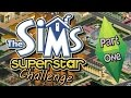 Let's Play The Sims Superstar Challenge (Part 1) - Rules, Fires, Fails + Crimes