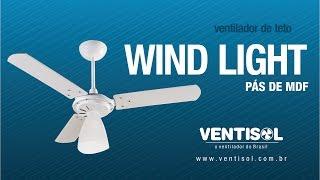 Ventilador de Teto Wind Light com Pás de MDF