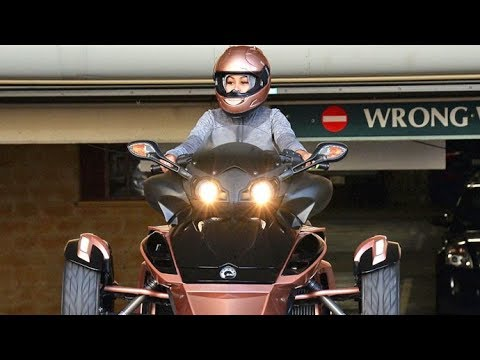 Blac Chyna Looking Sexy On Her Rose-Gold Three Wheeler In Beverly Hills