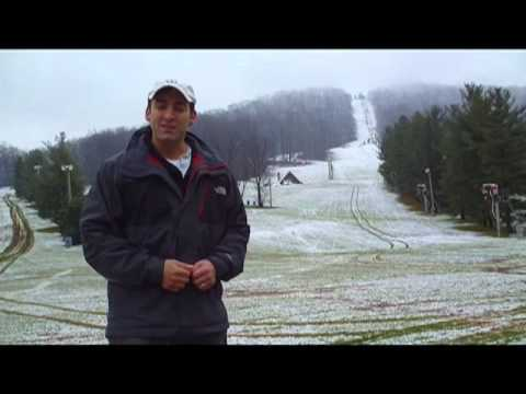 Justin Berk - A little storm with the first coating of snow on the southern PA ski areas hit November 27 2012. It was only an inch or so, but enough to get things started ...