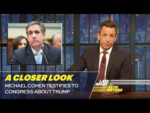 Michael Cohen Testifies to Congress About Trump: A Closer Look