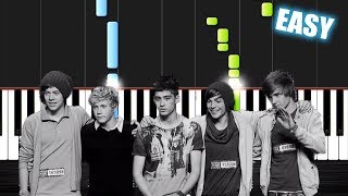 One Direction - History - EASY Piano Tutorial by