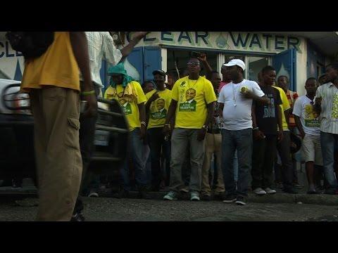 Supporters of Jude Celestin rally, dance in Haiti capital