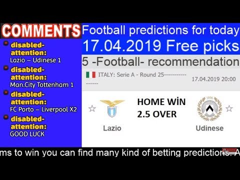 Today Football Prediction 17.04.2019 Free Picks