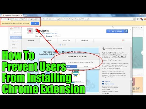 How to Prevent Users from Installing Google Chrome Extension