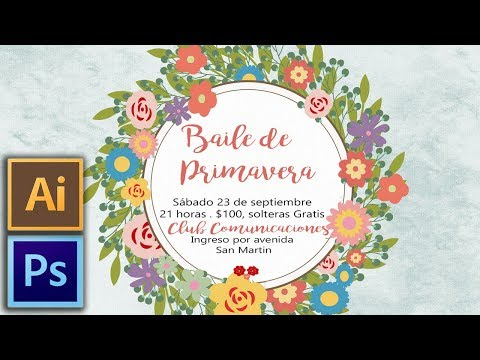 Photoshop E Illustrator: Invitación Florida