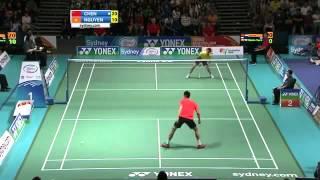 http://www.badmintonfreak.com Chen Jin vs Nguyen Tien Minh Yonex Australian Open Men Single Final Badminton Video