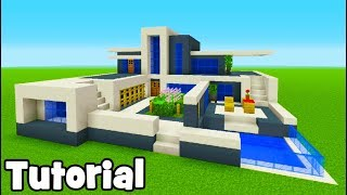 Minecraft Tutorial: How To Make A Modern House #9 (Easy Modern Base)