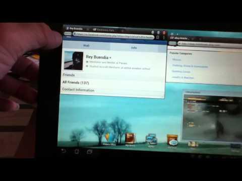 Asus tablet tf300 multitasking!