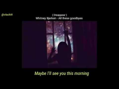 Whitney Bjerken - All These Goodbyes ( Lyric Video )