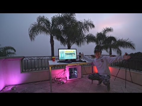 OUTDOOR GAMING SETUP ON BALCONY! *BEST VIEW EVER*
