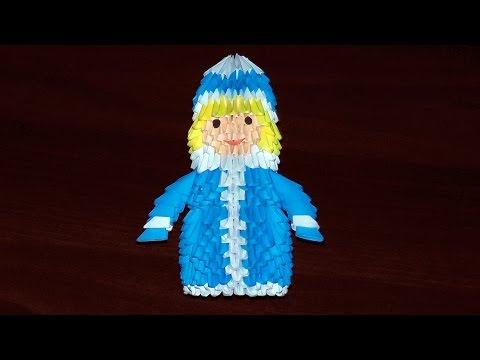 Снегурочка из бумаги видео
