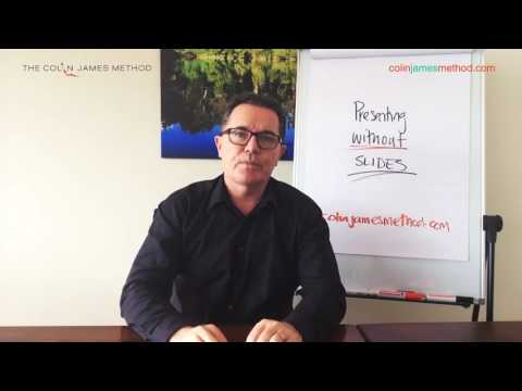 Presenting Without Slides The Colin James Method   Part 1