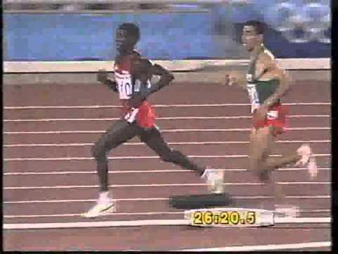 شاهد أمتع سباق في أشرس صراع بين الكينيين والمغاربة توج بذهبية السكاح في أولمبياد برشلونة 92