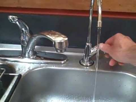 Shows how to clean a Doulton ceramic water filter