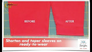 Serger Tip Clip 5: Shorten and taper sleeves on ready-to-wear
