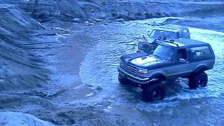 Lifted bronco on solid axles at azusa canyon Suburban, Stuck Dentside f150