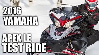 2. TEST RIDE: 2016 Yamaha Apex LE
