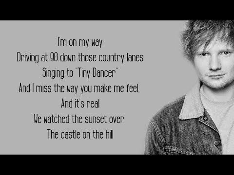 Castle On The Hill - Ed Sheeran (Lyrics) (видео)