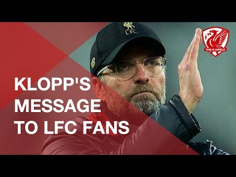 🧣 Jurgen Klopp's Message To Liverpool Fans In Title Race
