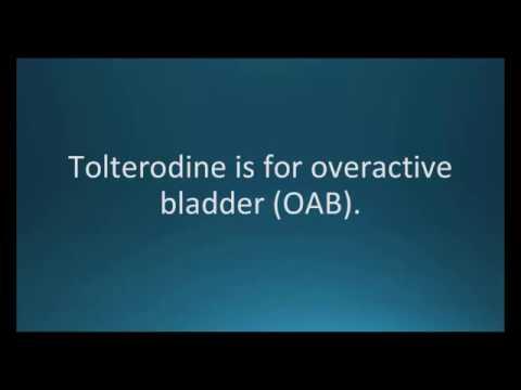 How to pronounce tolterodine (Detrol) (Memorizing Pharmacology Flashcard)