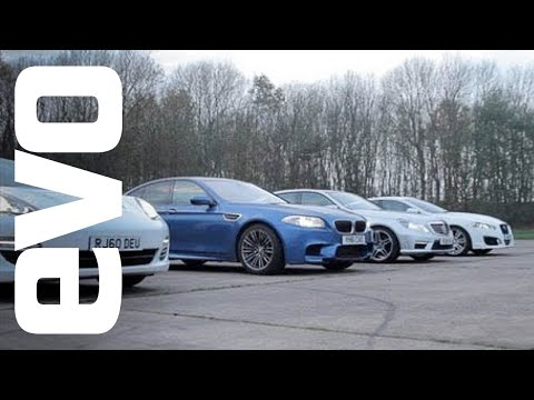 Drag race M5,Panamera,E63 AMG & XFR