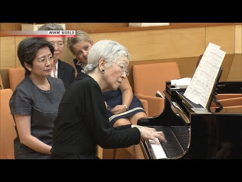 "Empress Michiko Plays ""the Swan"" On Piano [full Ver.]"