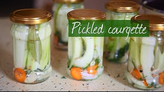 Pickled courgette