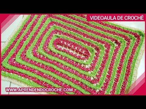 Tapete de Croche Escala com Barbante - Aprendendo Crochê